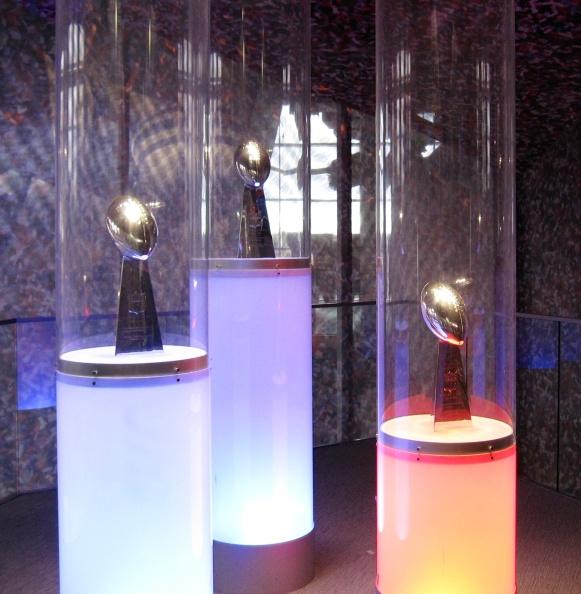 The Patriots' 3 Lombardi trophies