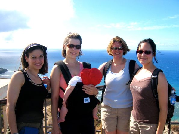 With 3 of my favorite violinists in Hawaii, 2007