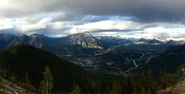 View from top of the Banff gondola