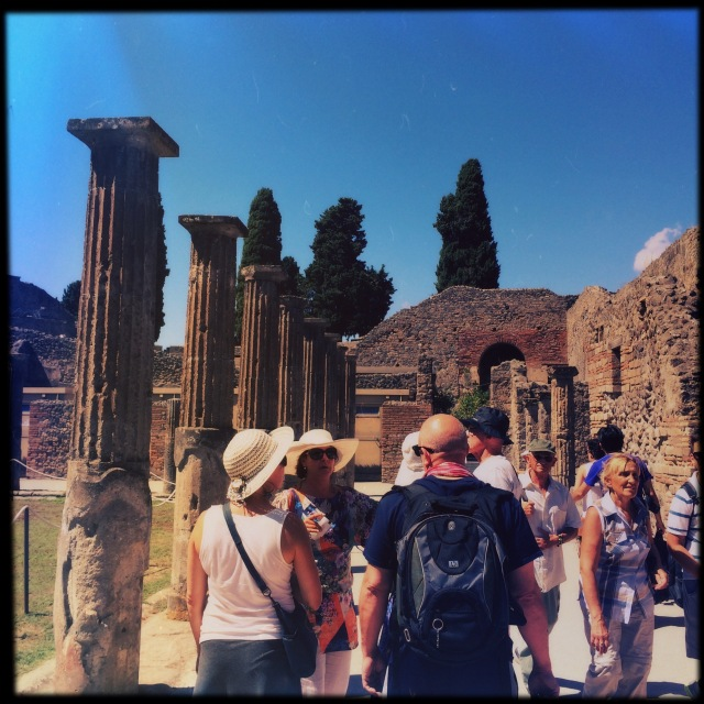 Walking among the ruins