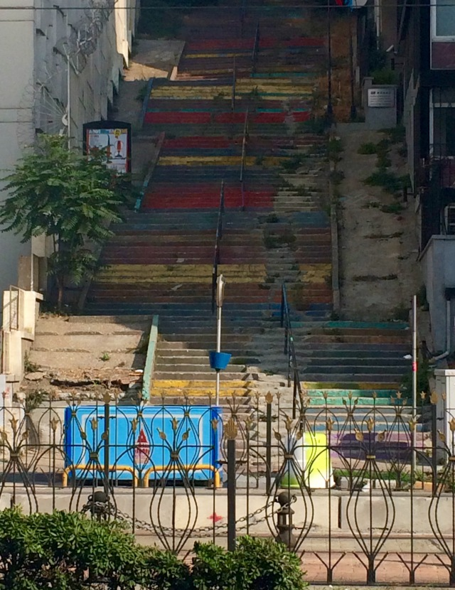 Colorful stairs on the streets of Istanbul
