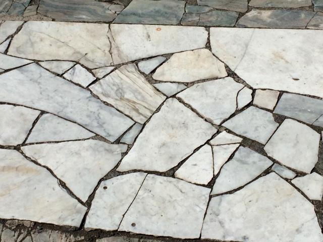 Original marble sidewalks