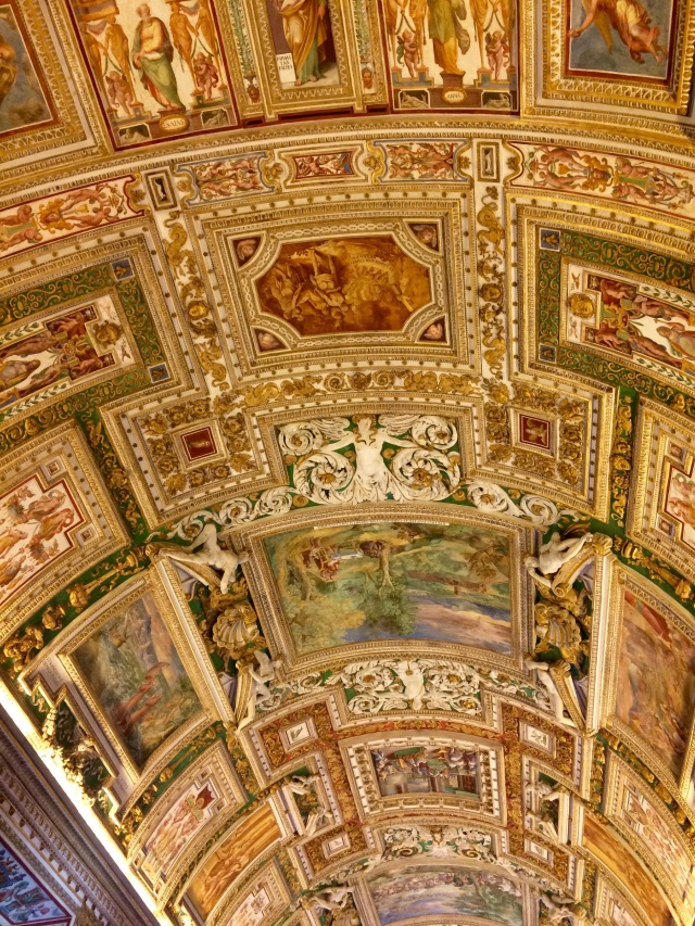 Random ceiling in the Vatican Museum - the whole place was over-the-top ornate like this