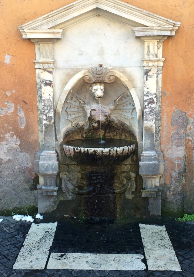 One of the many drinking fountains in Rome - all with fresh, potable, delicious drinking water
