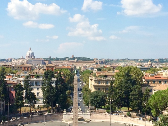 View of Rome from Villa Borghese Gardens