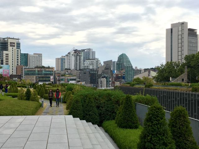 View of the city from the university campus