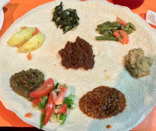 Veggie combo from Club Zion Ethiopian Bar & Restaurant