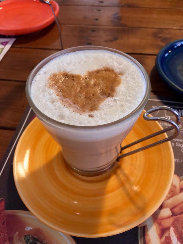 Valentine's latte