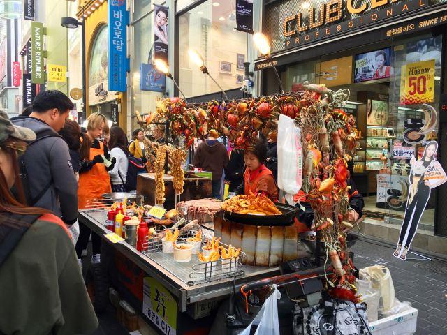Street food in Myeongdong