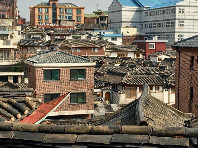 View from Bukchon Hanok Village