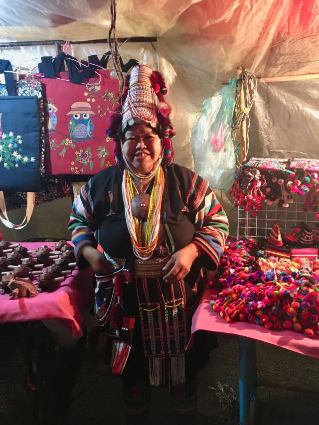 Hill tribe woman selling her wares